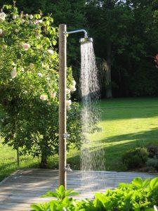 ducha solar sencilla