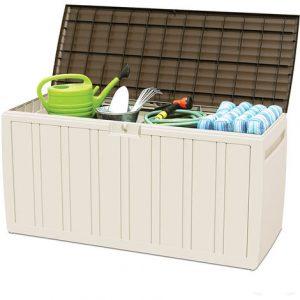 caja de almacenamiento exterior para jardinería