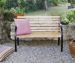 banco de jardín de madera