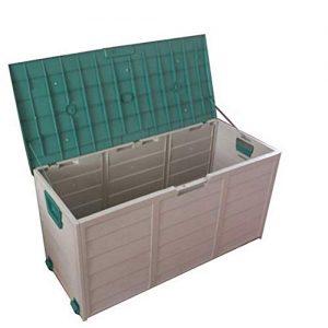 caja de almacenamiento exterior abierta