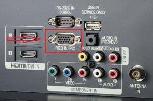 conexión cable HDMI