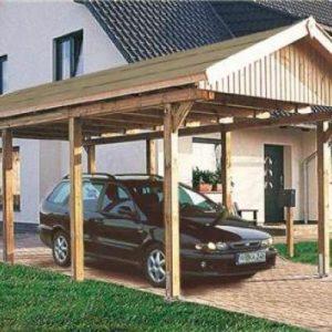 cochera de madera