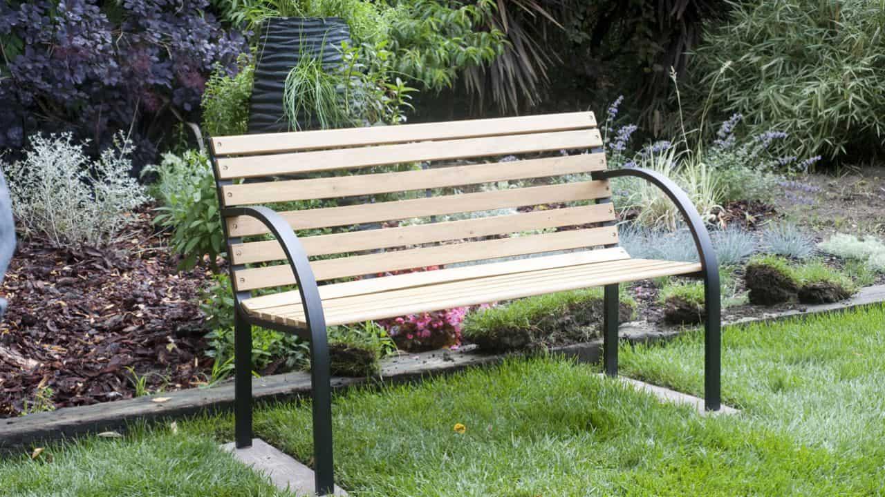 banco de jardín simple