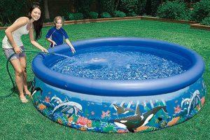 piscina hinchable con dibujos