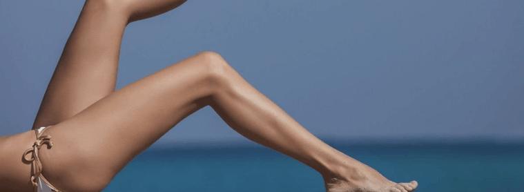 piernas de mujer sin celulitis