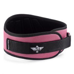 cinturón lumbar rosa y negro