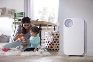 purificador de aire en casa