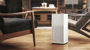 purificador de aire en el salón