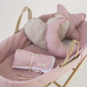 moisés para bebé rosa