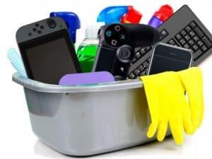 limpiar consola de videojuegos