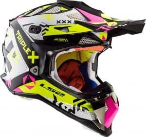 casco de motocross multicolor