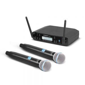 dos micrófonos inalámbricos