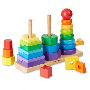 jueguete de madera de formas y colores