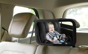 espejo retrovisor para bebé en el coche