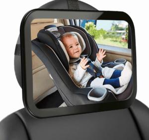 espejo retrovisor para bebé en el asiento