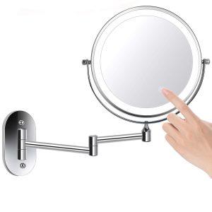 espejo de aumento en la pared
