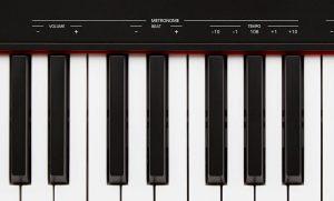 teclas de un piano electrónico