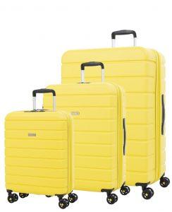 set de maletas amarillo
