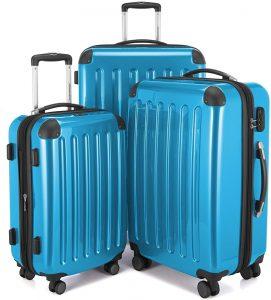 set de maletas azul