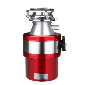 trituradora de fregadero roja