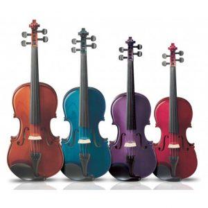 violines de colores